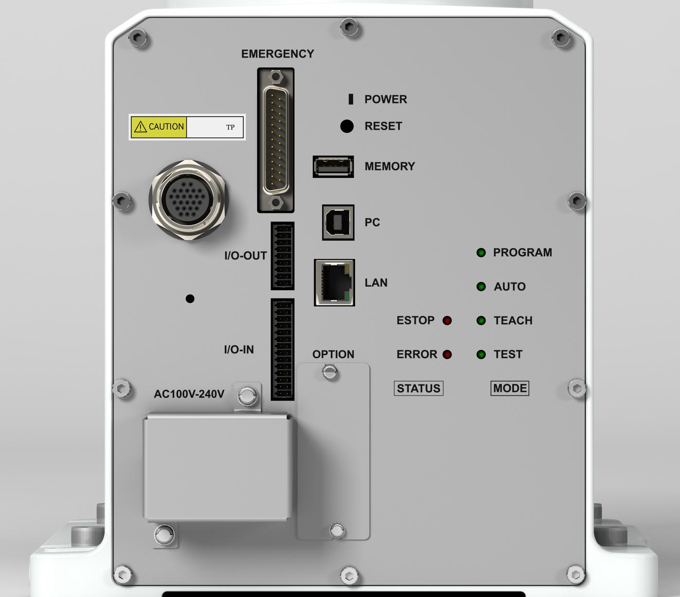 VT6L Back of robot controls